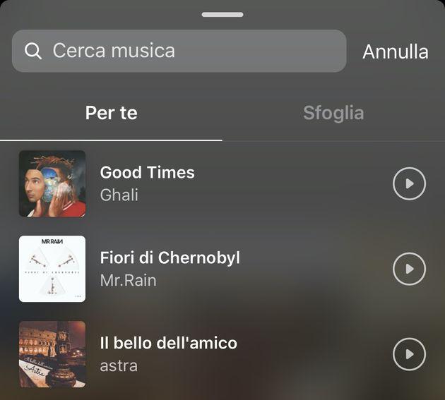 instagram musica