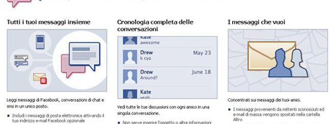 Facebook Messaggi attivo anche in Italia su invito