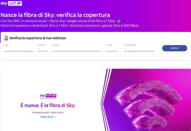 sky wifi verifica copertura