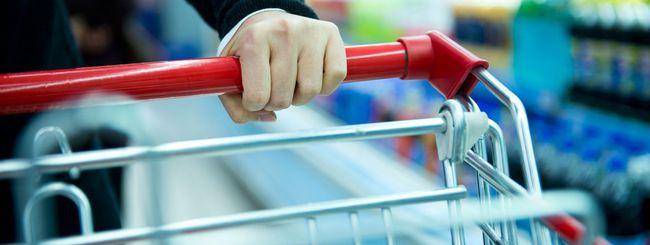 App e LED per fare la spesa al supermercato