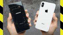 iPhone XS Max VS. Galaxy S10+ Drop Test