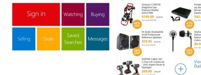 eBay, disponibile l'app Metro per Windows 8