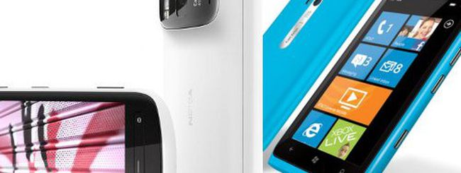 Nokia 808 PureView e Nokia Lumia 900 a confronto