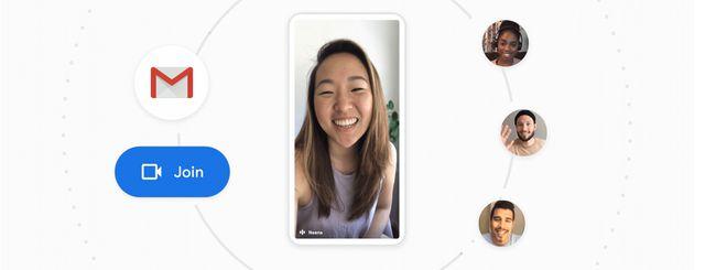 Google Meet arriva su Gmail per iOS e Android
