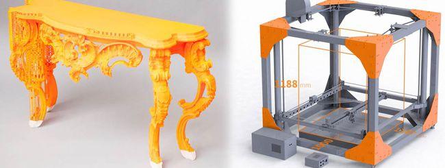 BigRep ONE, la stampante 3D per i mobili