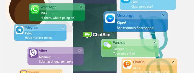 WeChat Italia e ChatSim per l'Instant Messaging
