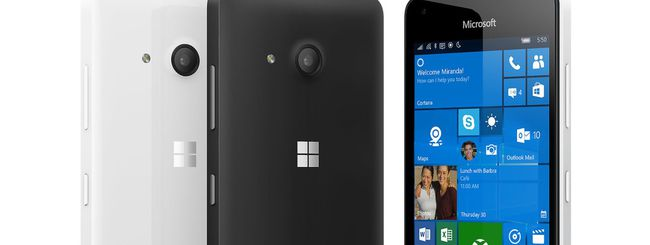 Microsoft Lumia 550, low cost con Windows 10