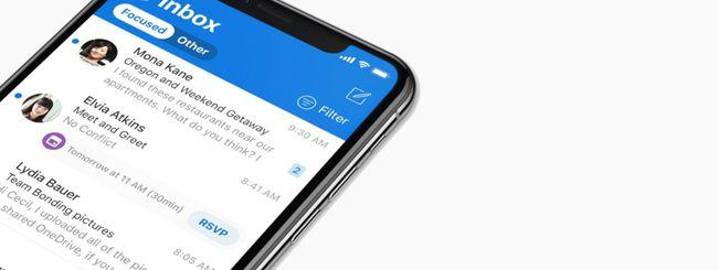 Microsoft Outlook per iOS, nuovo look