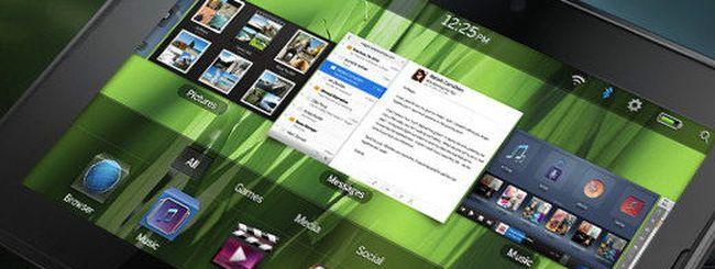 BlackBerry PlayBook, l'esordio in Italia