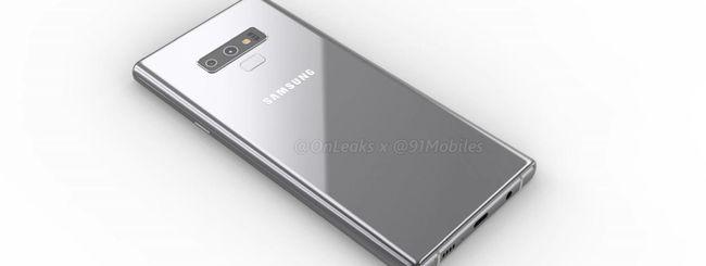 Samsung Galaxy Note 9, batteria da 4.000 mAh?