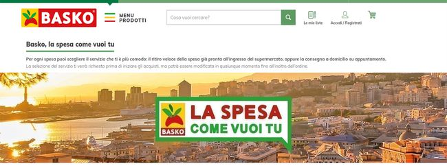 Spesa online Basko: come farla, tempi e costi
