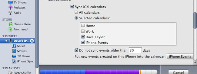 iTunes, Apple sta per reintrodurre la sincronizzazione locale di calendari e contatti