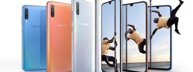 Samsung Galaxy A70, schermo 20:9 e 8 GB di RAM