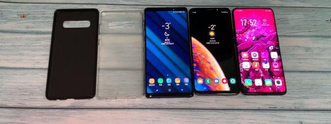 Galaxy S10 Plus, dimensioni a confronto con S9 Plus, Note 9 e Oppo Find X