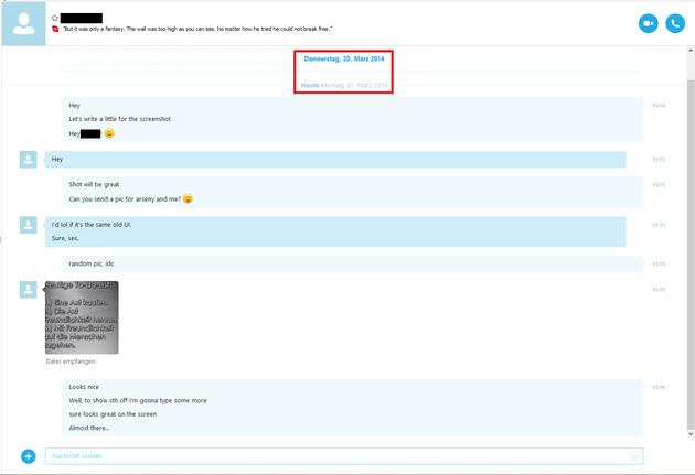 Probabile nuova interfaccia utente di Skype per Windows.