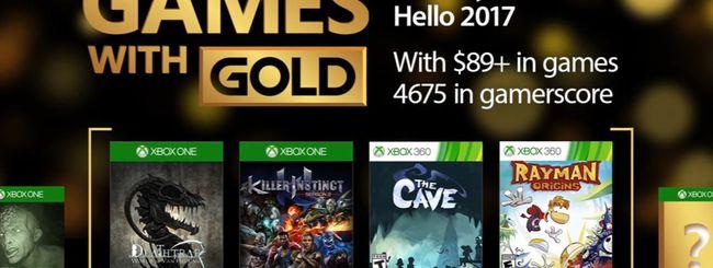 Microsoft annuncia i Games with Gold di gennaio