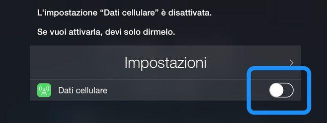 iOS, un bug consente di attivare/disattivare Dati Cellulare senza PIN