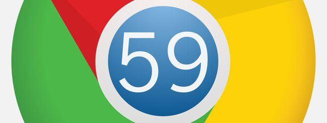 Chrome 59 in download su Windows, macOS e Linux