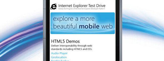 IE9 Mobile Test Drive in vista di Mango