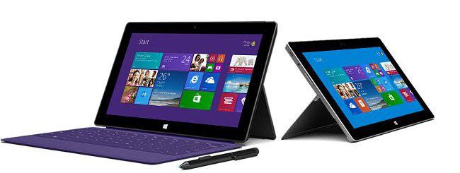 Microsoft annuncia Surface Pro 2 e Surface 2