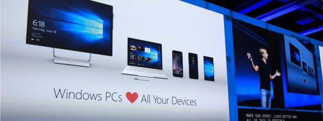 Windows 10 dialoga con Android