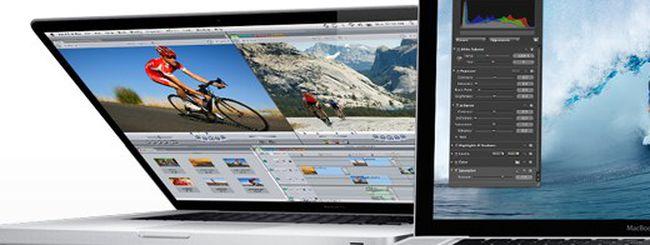 Apple, nuovi MacBook Pro ad alta risoluzione