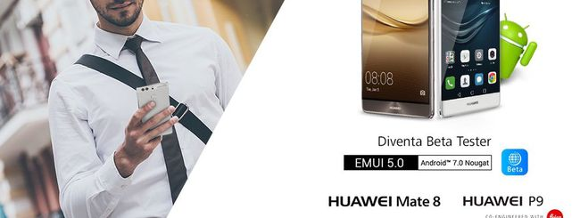 Android 7.0 Nougat con EMUI 5.0 per Huawei P9
