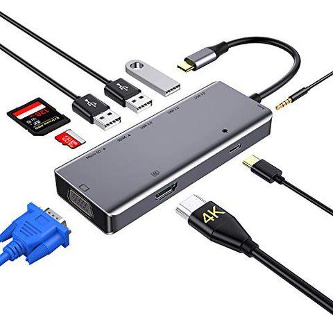 Zedela Hub USB C Adattatore 9-in-1 Tipo C a 4K HDMI