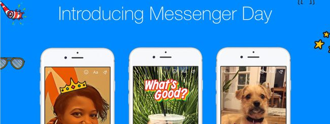 Messenger Day, storie in stile Snapchat