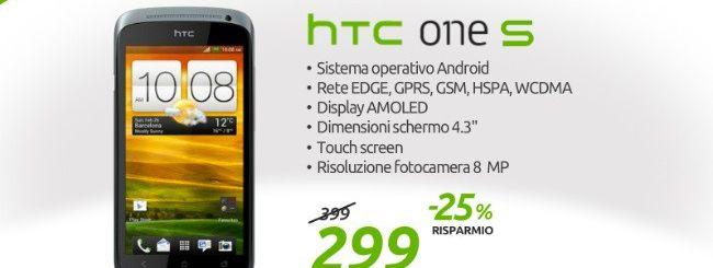 HTC One S in offerta a 299 euro da Marcopoloshop