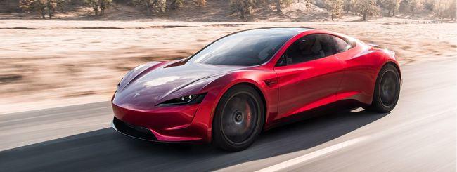 Tesla Roadster estrema con lo SpaceX package