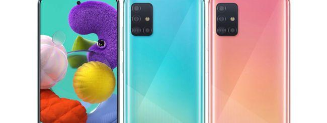Samsung Galaxy A51, schermo AMOLED e Android 10