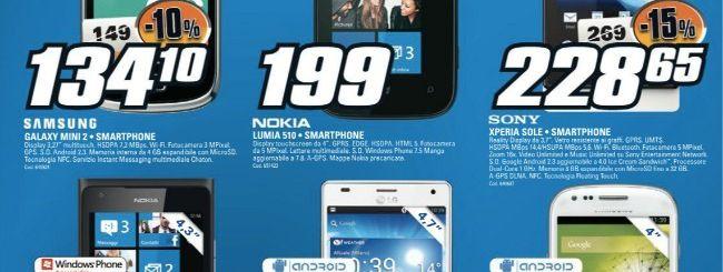 Volantino Saturn: Nokia Lumia 510 a 199 euro