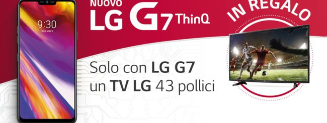 LG G7 regala una TV Full HD da 43 pollici