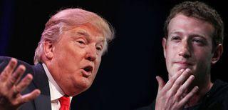 Mark Zuckerberg contro Donald Trump