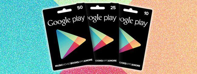 Google Play: le carte regalo arrivano in Italia