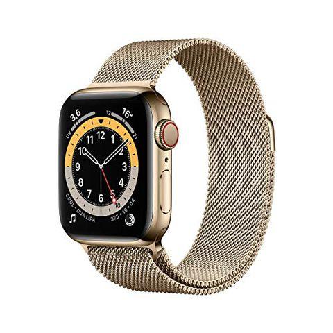 Apple Watch Series 6 (GPS + Cellular, 40 mm) Cassa in acciaio inossidabile color oro con Loop Cassa in maglia milanese