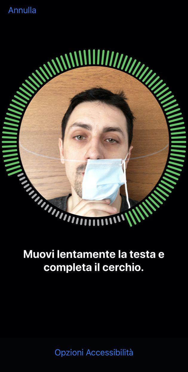 Face ID con mascherina