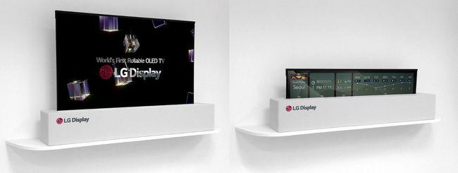 LG, Smart TV da 65″ che si arrotola come un poster