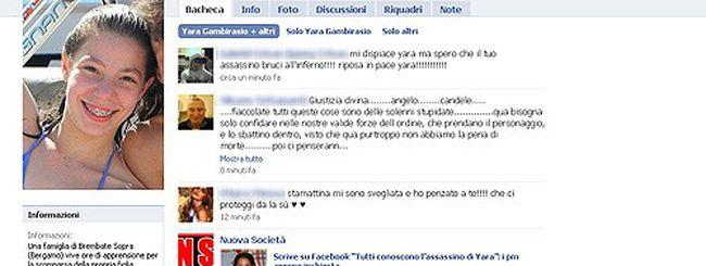 Yara Gambirasio, magistrati anche su Facebook