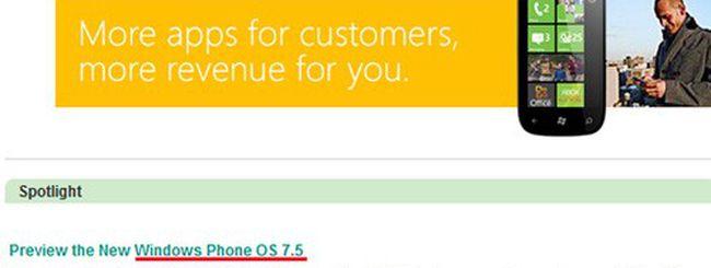 Windows Phone 7.5 arriverà con Mango