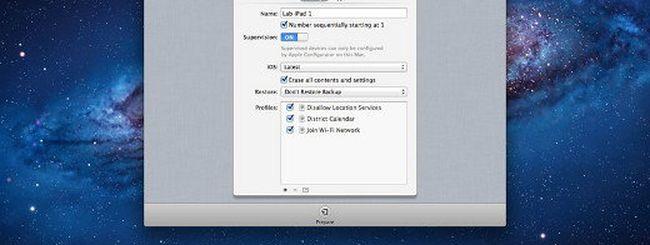 Apple Configurator per gestire più dispositivi iOS
