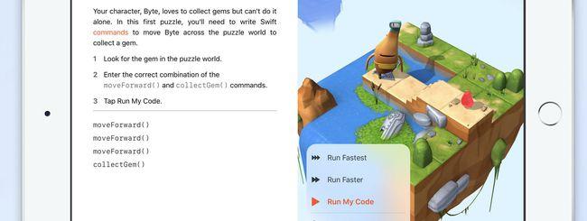 Swift Playgrounds, l'app per imparare a programmare
