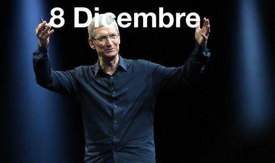 Nuovi prodotti Apple martedì 8 dicembre?