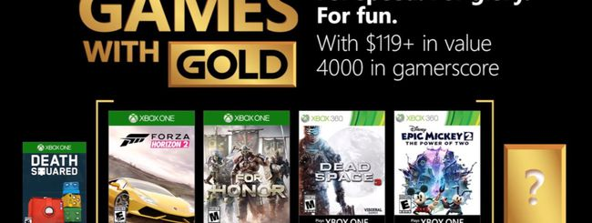 Microsoft svela i Games with Gold di agosto 2018