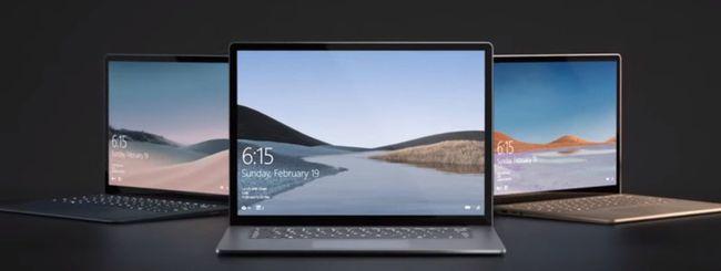 Surface Laptop 3: arrivano i processori AMD