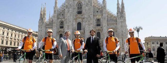 TNT: a Milano la consegna è in bicicletta