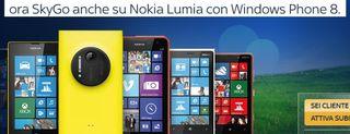 Sky Go per Windows Phone 8, immagini