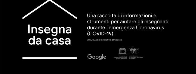 Coronavirus: Google apre il portale Insegna da casa