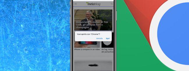 Aprire un URL in Chrome per iOS con una scorciatoia